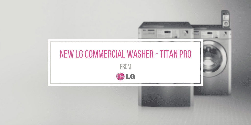New 35 Pound Capacity LG Commercial Washer For OPL & Vended