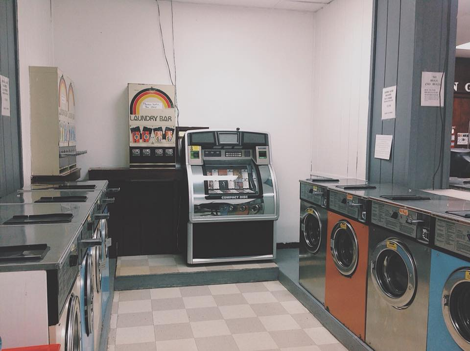 Coin Operated Laundromat With Dated Wascomat Commercial Washers